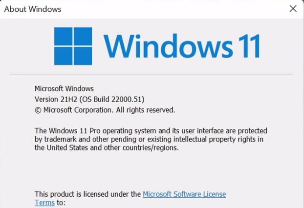 Windows 11 insider preview build version