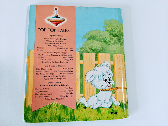 photo of vintage children's book on white background