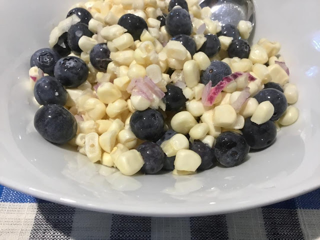 corn and blueberry salad,