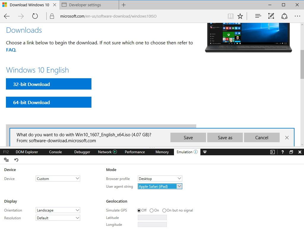 3 ثلاثة طرق لتحميل آخر إصدار من ويندوز 10 (الإصدار 1909 iso) مباشرة من خوادم Microsoft