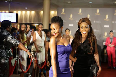 Nomzamo Mbatha and Mampho Brescia (Red Carpet)