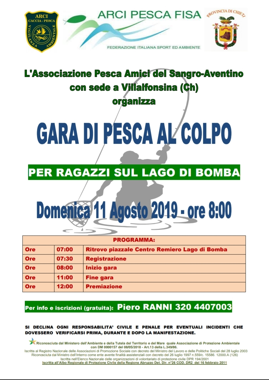Calendario Gare Pesca Al Colpo 2020.Arci Pesca F I S A Comitato Provinciale Di Chieti