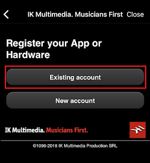 IK Multimedia Account in AmpliTube hinterlegen