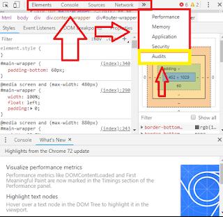 Cara Cek Skor SEO Blog Dengan Inspect Elemen Google Chrome