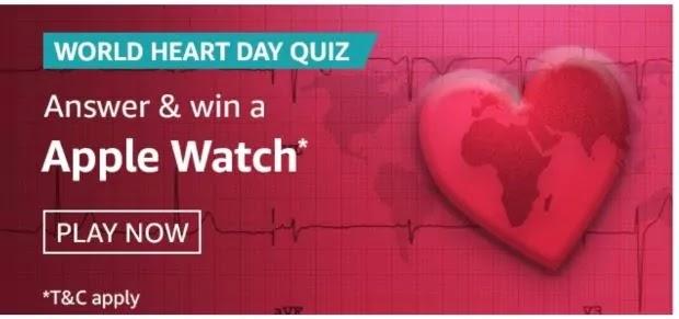 amazon world heart day quiz answers