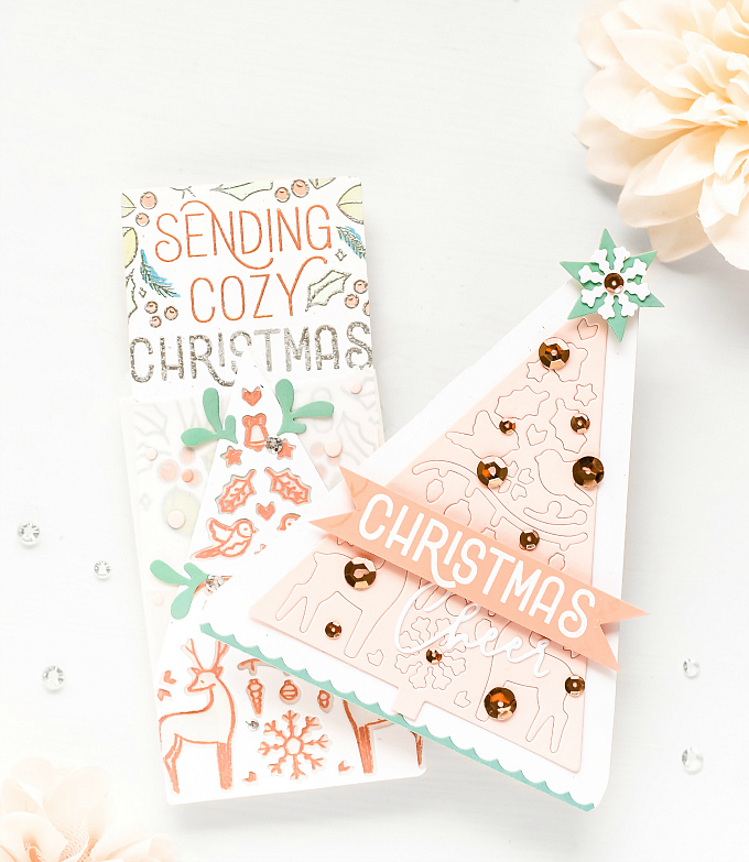 Holiday Card Set #1 - Breaking the Mold - Christmas with Pinkfresh
