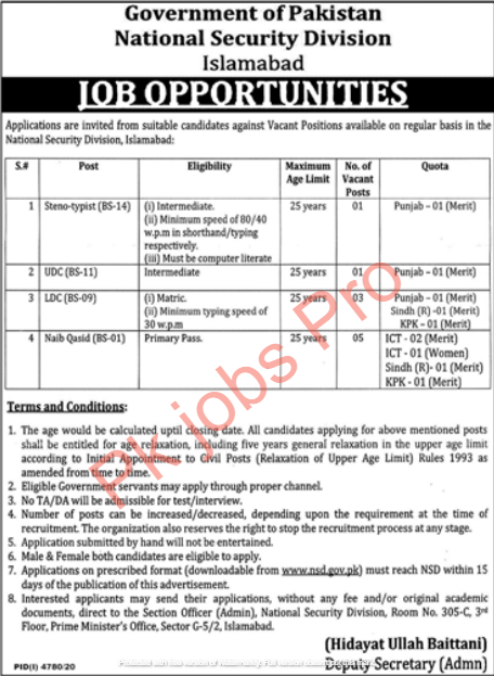 National Security Division Jobs