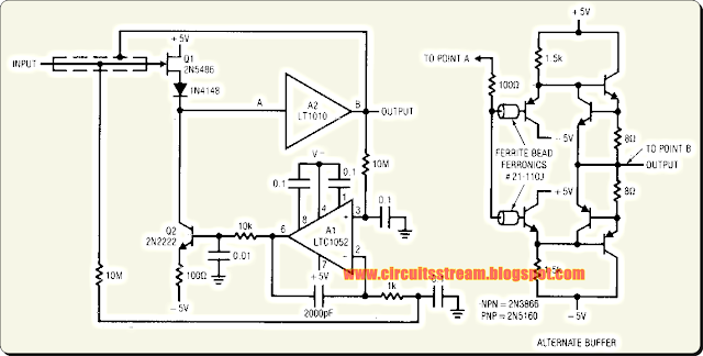 Build a Stabilized Capacitance Buffer Circuit Diagram