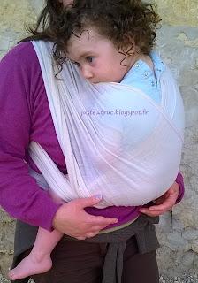 écharpe portage prématurés bébé etoile d'orient mother free laine