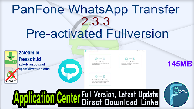 PanFone WhatsApp Transfer 2.3.3 Pre-activated Fullversion