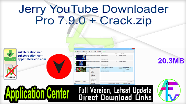 Jerry YouTube Downloader Pro 7.9.0 + Crack
