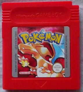 Pokemon Edición Roja - Cartucho delante