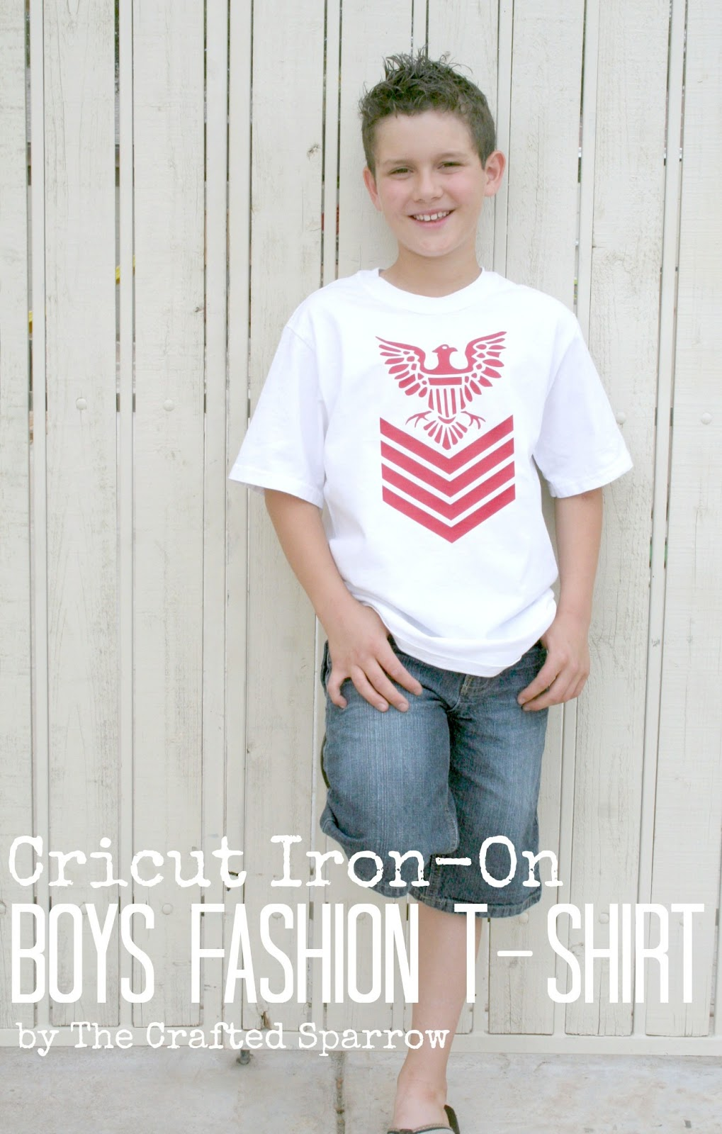 Cricut Iron-on Boys Fashion T-Shirt - The Crafted Sparrow
