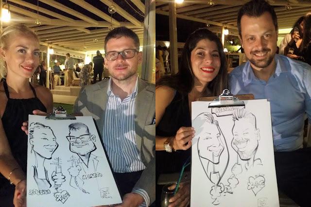 Γρήγορα σκίτσα καρικατούρες ένα μοναδικό ενθύμιο!!!Δεξίωση - Γαμήλιο πάρτι με  καρικατούρες - Wedding party - Caricatures event