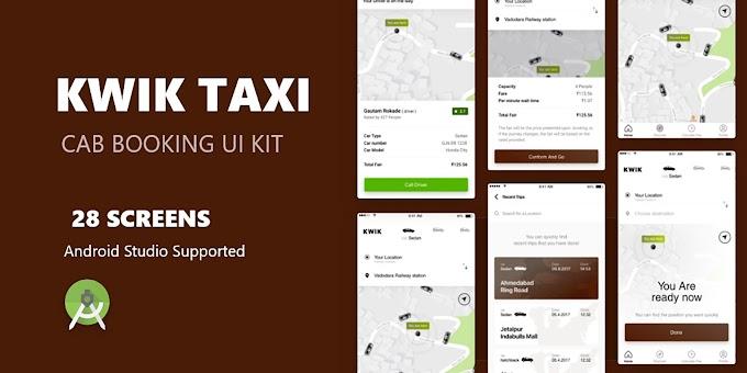 Free Kwik Taxi UI Kit download with GPL