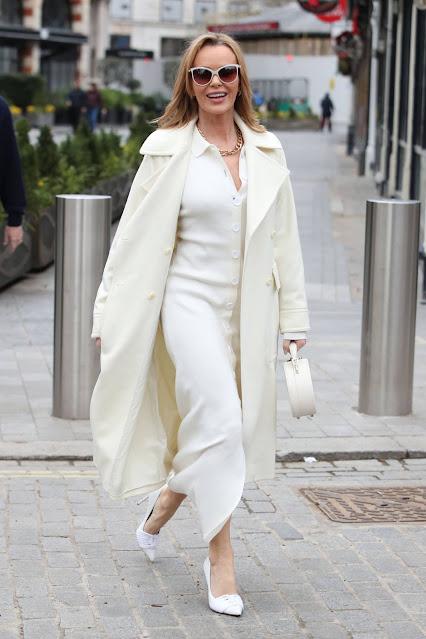 Amanda Holden – Seen after the Heart Breakfast show in London
