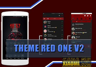 Tema Red One V2 Mtz For MIUI Xiaomi Update Release