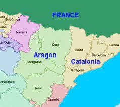 Map of Aragon Spain