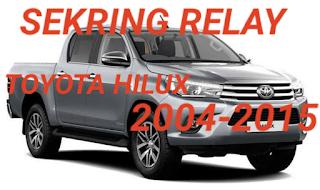 sekring dan relay TOYOTA HILUX 2004-2015