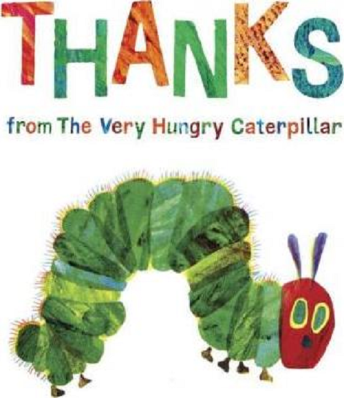 Thanks from the very hungry caterpillar by Eric Carle book cover