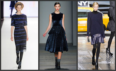 Black with navy fashion trend fall 2012