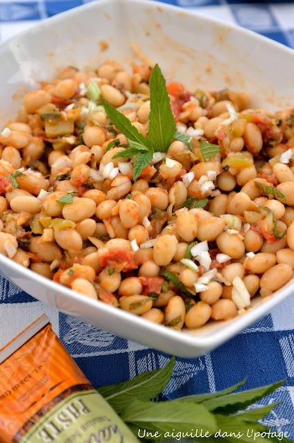 haricots blancs en salade