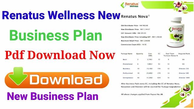 Renatus wellness new business plan pdf Download || Renatus Nova new compantion plan Pdf download