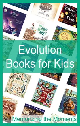 A wide variety of books about evolution and natural selection for children.