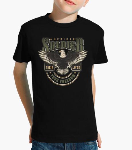 camisetas, militares, niños