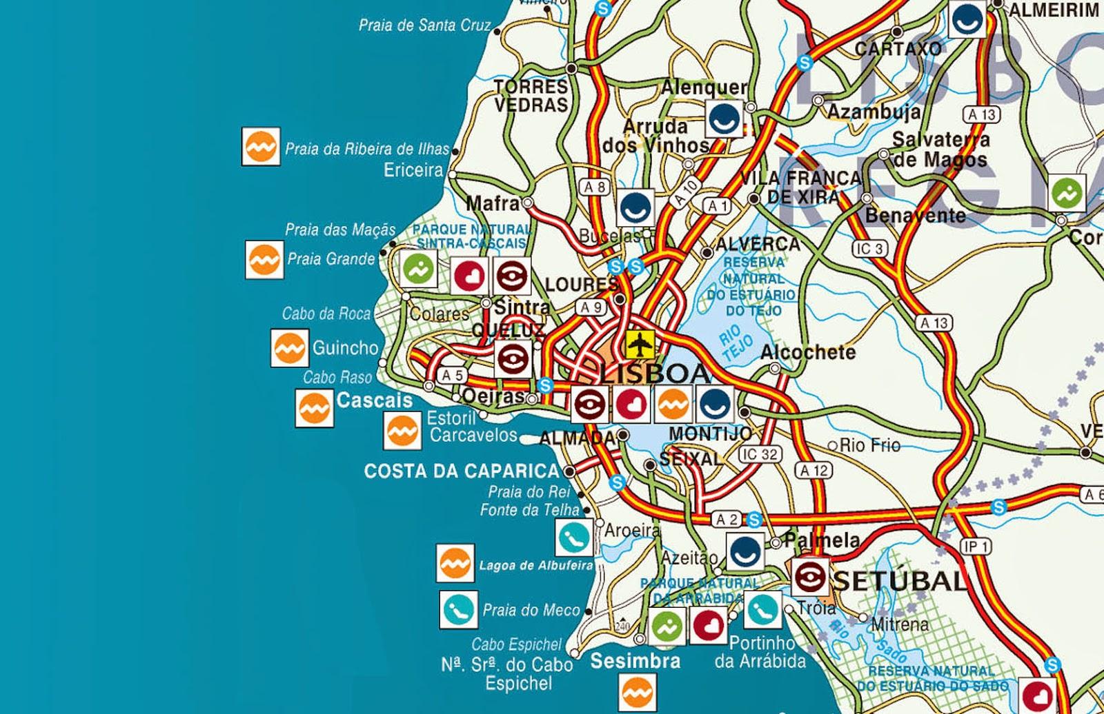 mapa regiao lisboa Mapas de Cascais   Portugal | MapasBlog mapa regiao lisboa