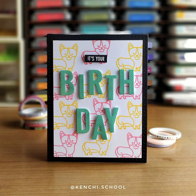 Sunny Studio Stamps: Party Pups Customer Card by Archisha