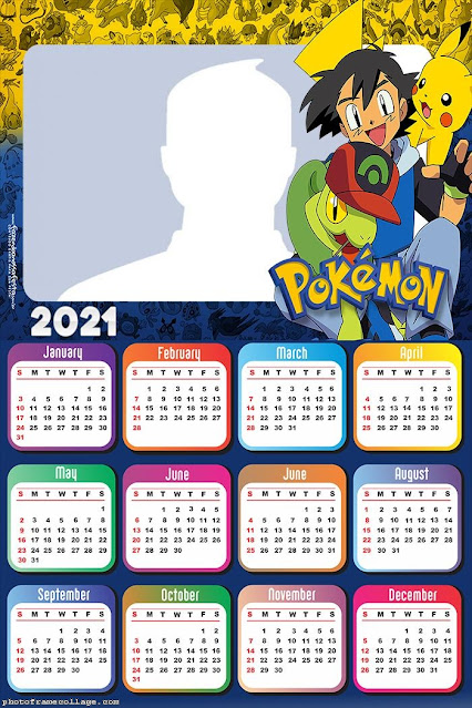Pokemon: Free Printable 2021 Calendar