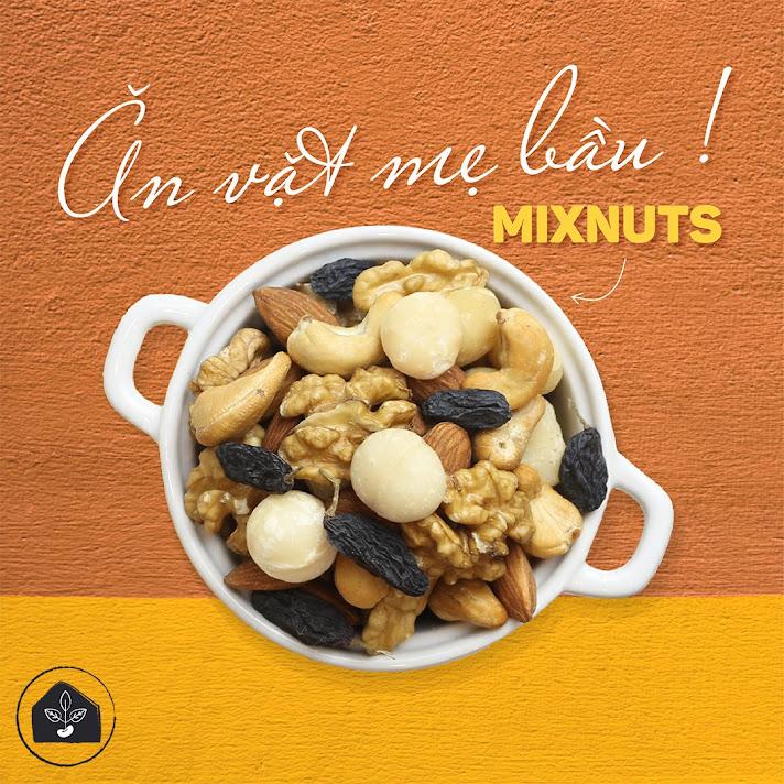 Mixnuts ăn vặt bổ sung dinh dưỡng cho Bà Bầu