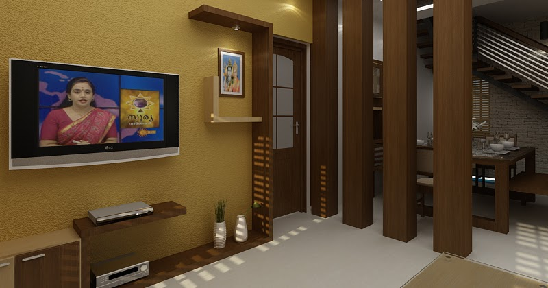 Modern Living Room With Wooden Partition Design Ideas By