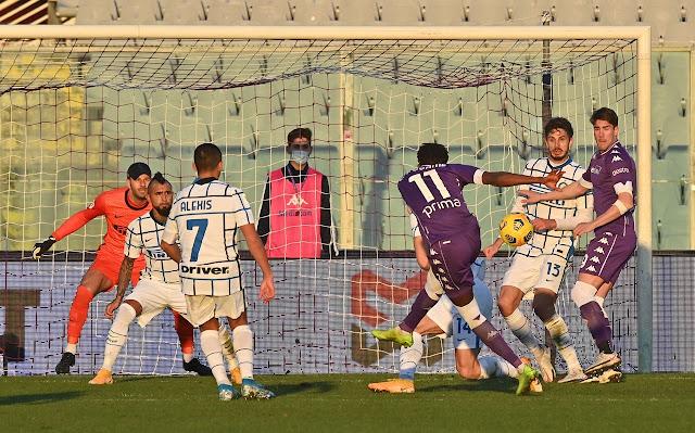 ملخص مباراة انتر ميلان وفيورنتينا (2-1) اليوم في كأس إيطاليا