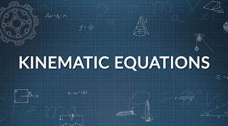 Equations of kinematics in two dimensions
