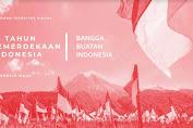 Logo HUT RI Ke-75 Bertema ' Indonesia Maju'
