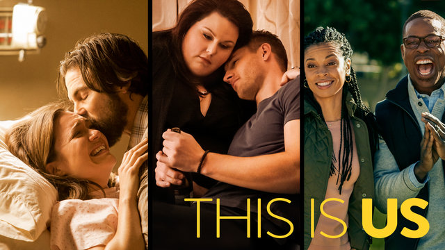 promotional image for the NBC television show 'This Is Us,' featuring the primary cast