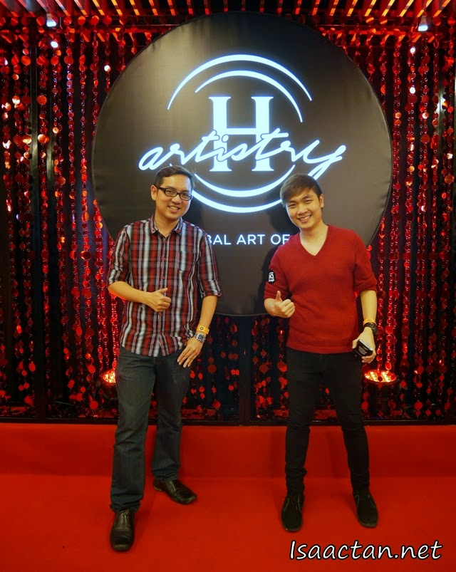 The brother, Ivan and I posing for a shot before entering the party arena at H-Artistry