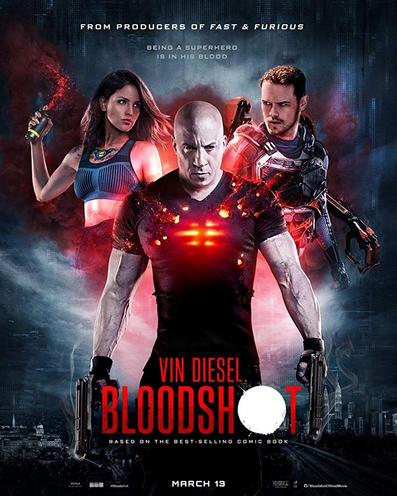 Bloodshot 2020 Hindi Dual Audio 650MB HDRip 720p HEVC x265 ESubs