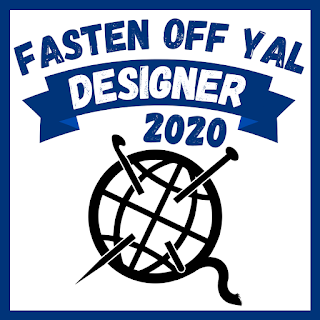 YAL 2020 Logo.  Text Reads: Fasten Off YAL Designer 2020