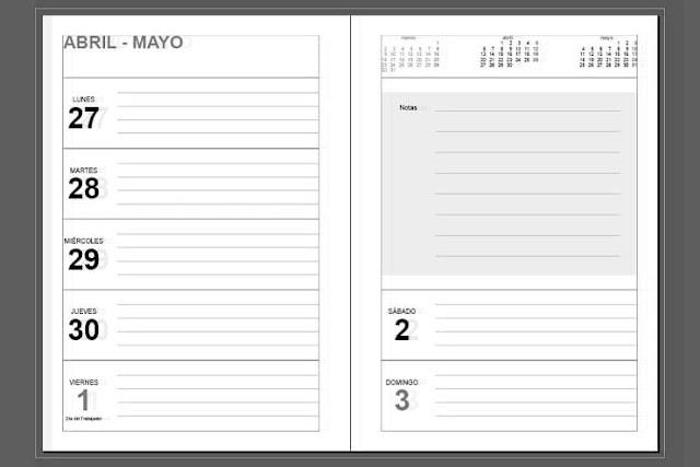 Planificador semanal 2020 gratis Organizado para apuntes
