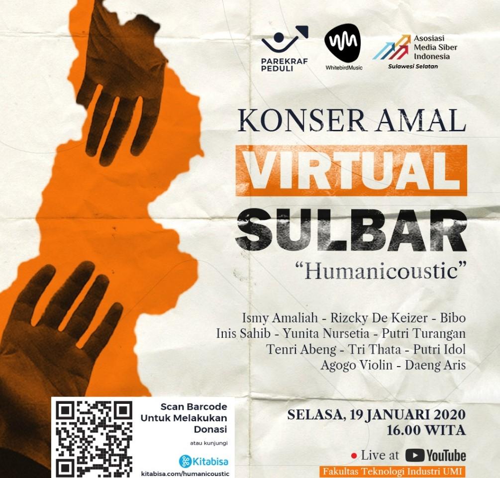 Konser Amal For Sulbar, Rangkul Parekraf AMSI Galang Bantuan