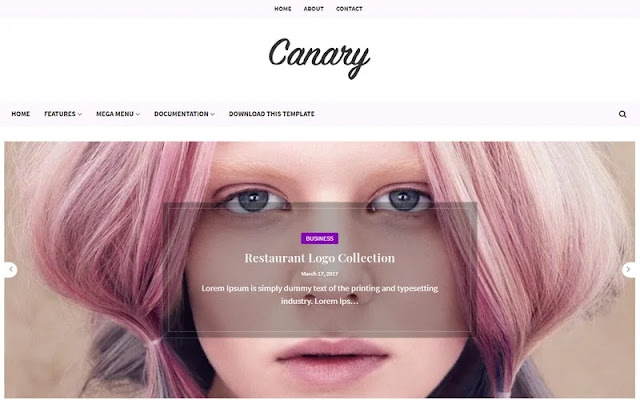 Canary Blogger Template - Responsive
