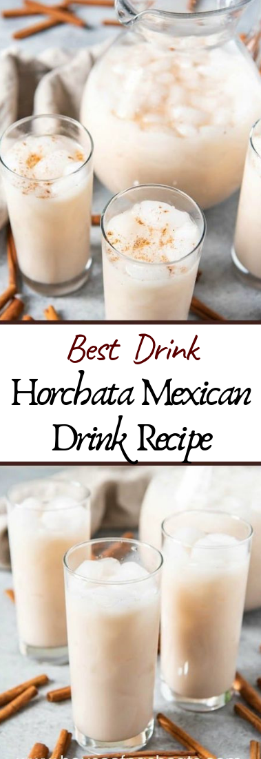 Horchata Mexican Drink Recipe #healthydrink #easyrecipe