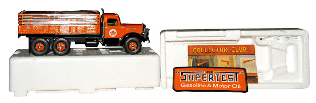 A box type truck with the Superstest logo and comes complete with a Supertest patch.
