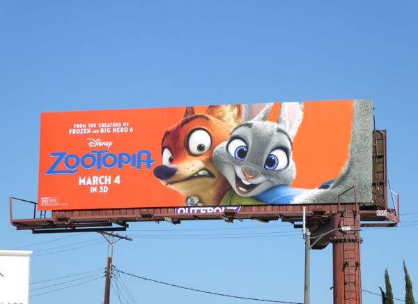Disney Zootopia billboard