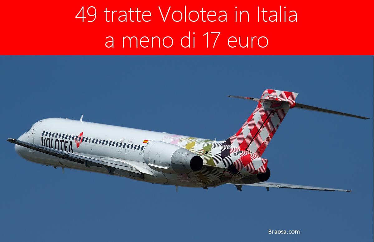 49 voli nazionali Volotea a meno di 17 euro