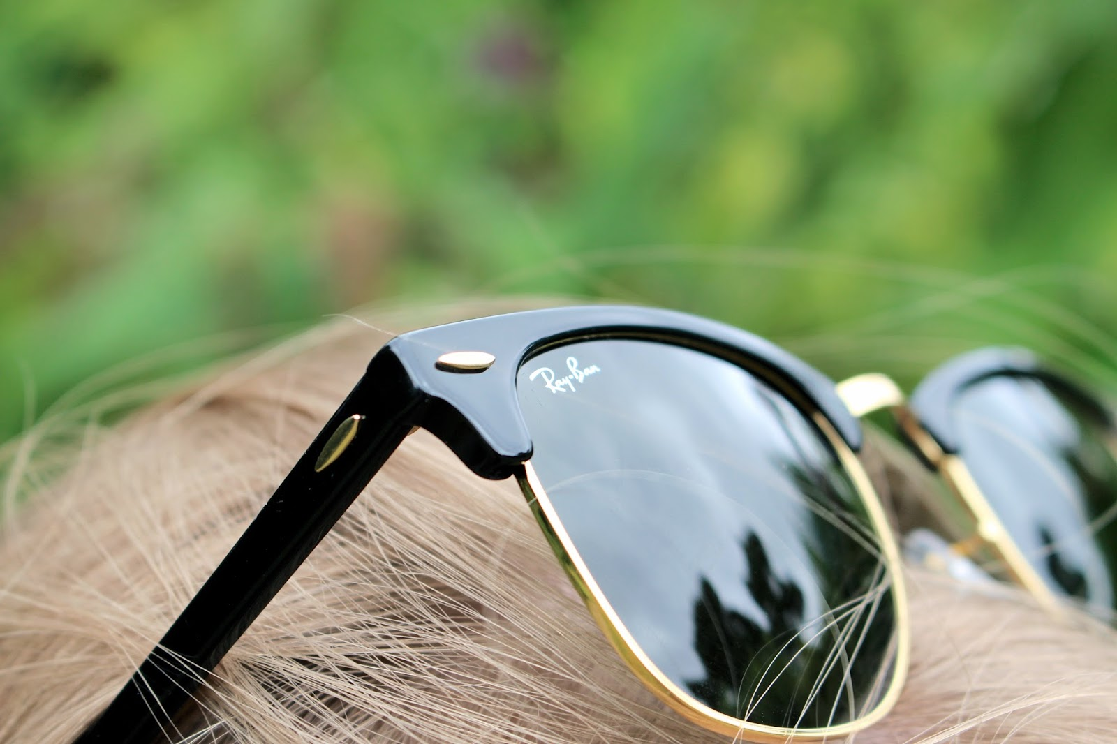 Close up of Ray-Ban Womens Clubmaster black