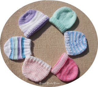Hats-preemie-baby-pattern link-easy-crochet-knit